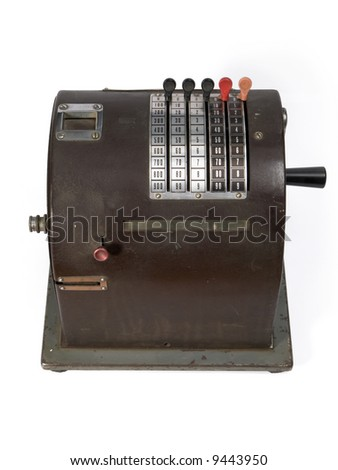 Antique small cash register.