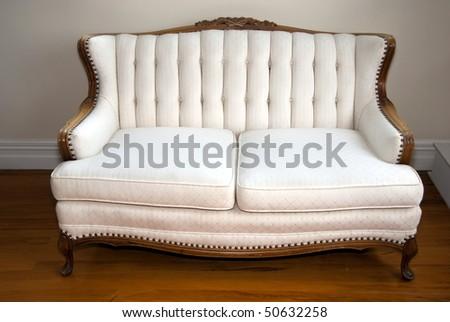 Antique sofa - stock photo