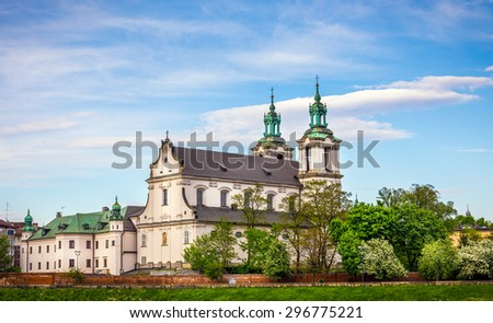 Antique St Michael Archangel church in Cracow ( Krakow ), Poland - stock photo