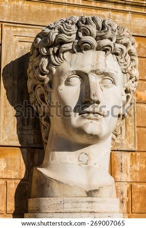 Antique Statue in Rome  - stock photo