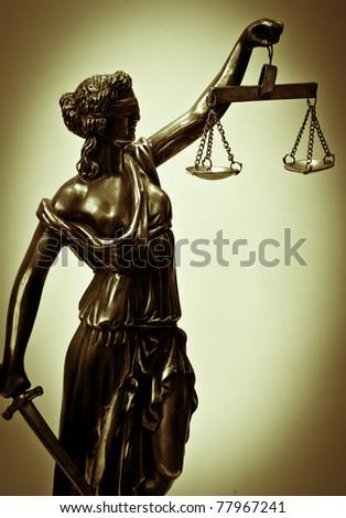 Antique Statue of justice - stock photo