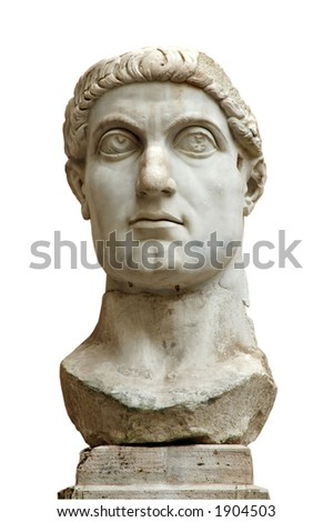 Antique statue, Rome. Isolated with clipping path - stock photo