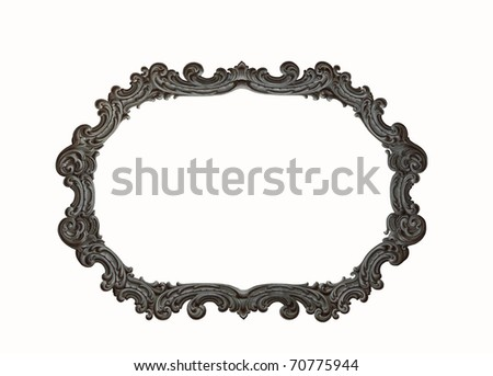 Antique stone picture frame isolated on white background See my portfolio for more - stock photo