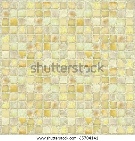 Antique Stone Tile Mosaic - stock photo