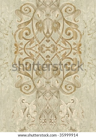 Antique style decor closeup. More of this motif & more decors in my port. - stock photo