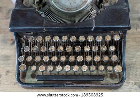 Antique Thai typewriter - stock photo