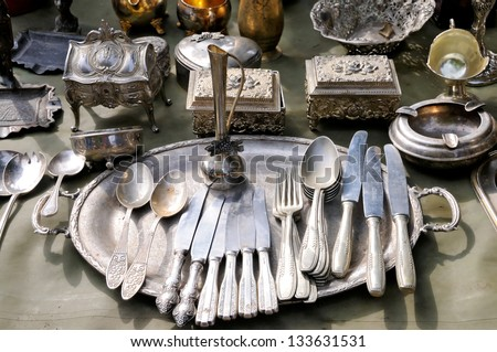 Antique things - stock photo