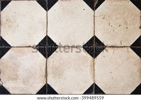 Antique tiles  - stock photo