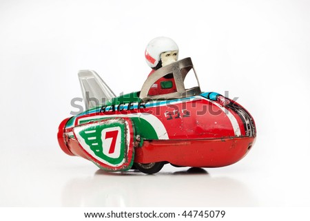 antique tin toy - stock photo