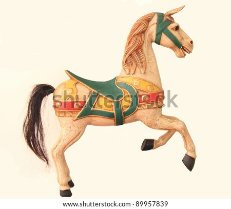 Antique Toy Bavarian Carousel Horse - stock photo