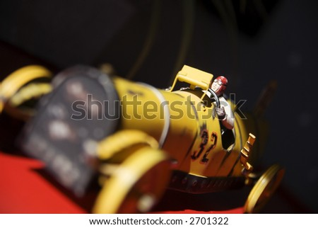 Antique Toy Car - stock photo