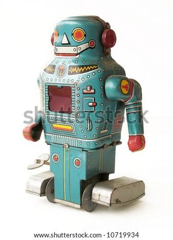 Antique Toy Robot - stock photo