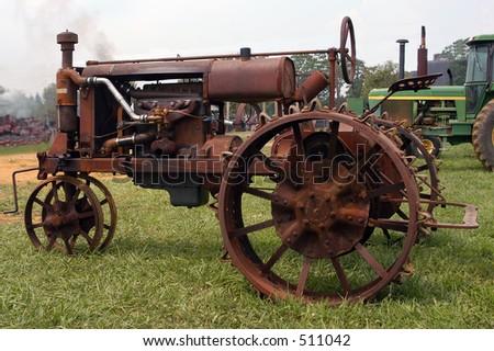 Antique Tractor - stock photo