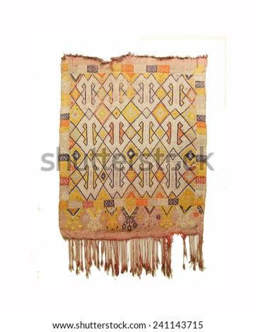 Antique Turkish carpet kilim ,  Antalya,  Turkey - stock photo