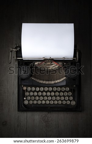 Antique Typewriter - stock photo