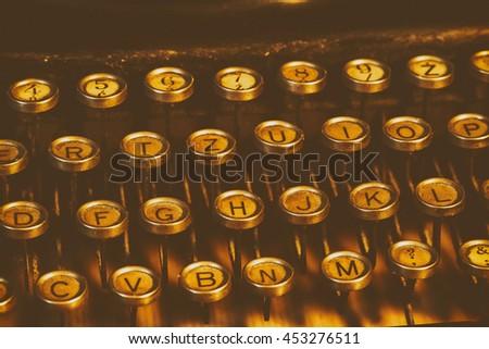 Antique Typewriter - stock photo