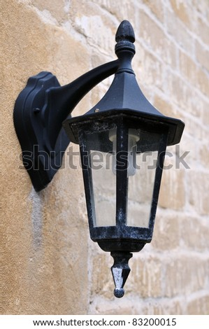 Antique Victorian Outdoor Wall Lamp - stock photo