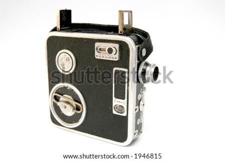 antique video camera - stock photo