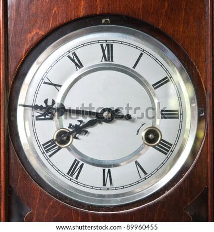 Antique vintage clock - stock photo