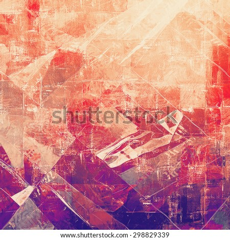 Antique vintage texture, old-fashioned weathered background. With different color patterns: brown; pink; purple (violet); red (orange) - stock photo