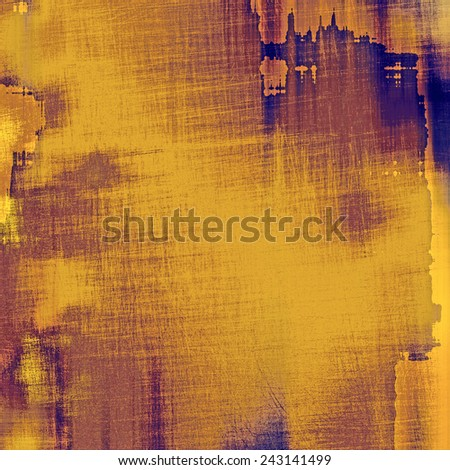Antique vintage textured background. With different color patterns: purple (violet); brown; blue; yellow (beige) - stock photo