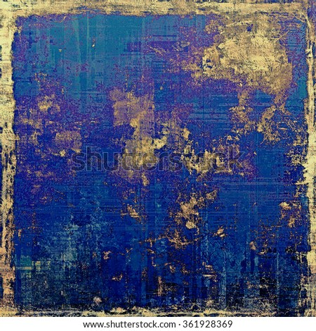 Antique vintage textured background. With different color patterns: yellow (beige); brown; black; blue - stock photo