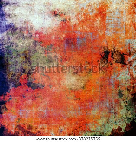 Antique vintage textured background. With different color patterns: yellow (beige); green; blue; red (orange); white - stock photo