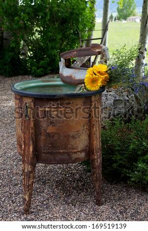 Antique Wash Basin - stock photo