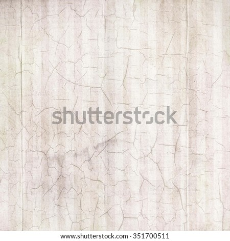 Antique White Cracked Linen Background - stock photo