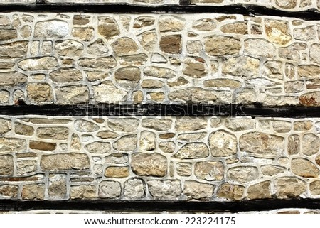 Antique white decorativ stone wall. Background and Texture for text or image - stock photo