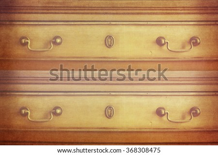 Antique wood carved chest - stock photo