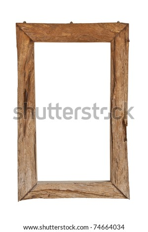 Antique wood frame - stock photo