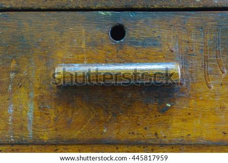 Antique Wood Handle - stock photo