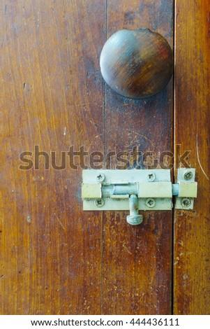 Antique Wood Handle and Antique Lanct - stock photo