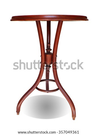 Antique Wood Table - stock photo