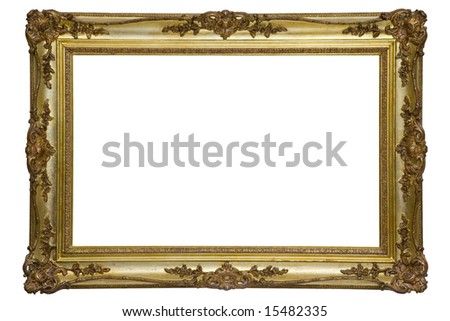 Antique wooden frame - stock photo