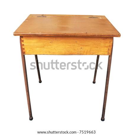 School Desk Clip Art Antique wooden school desk