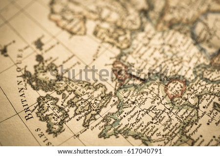 Antique world map england france stock photo 100 legal protection antique world map england and france gumiabroncs Image collections