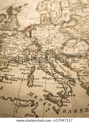 Antique world map europe stock photo edit now 617047157 shutterstock gumiabroncs Image collections