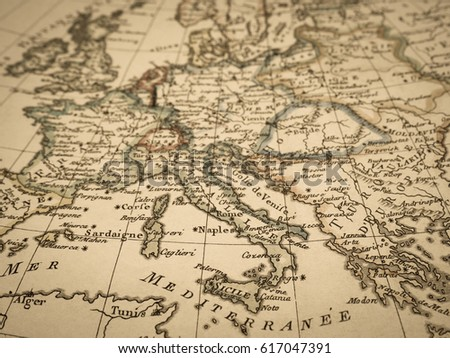 Antique world map europe stock photo royalty free 617047391 antique world map europe gumiabroncs Gallery