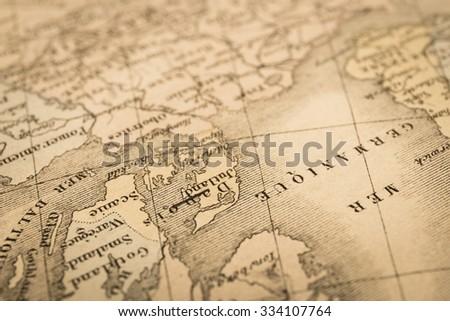 antique world map northern europe