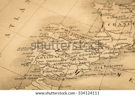 Antique World Map Spain Portugal Stock Photo Shutterstock - Where is portugal in the world