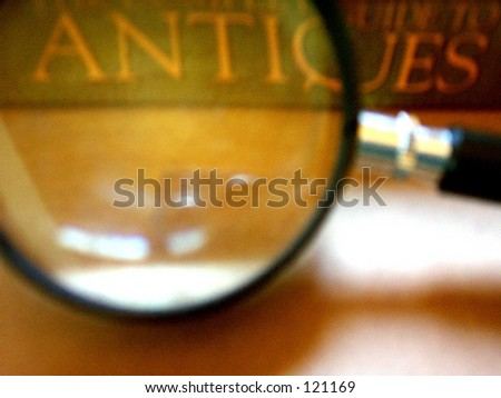 Antiques Magnified - stock photo