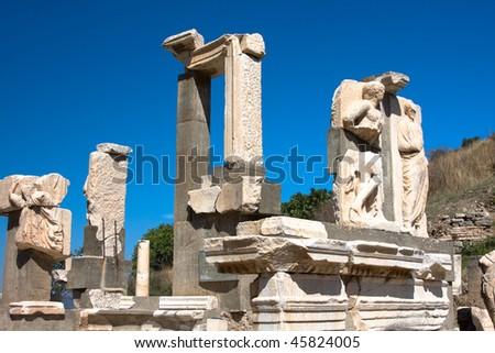 Antiquity greek city - Ephesus. - stock photo