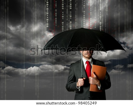 Antivirus and firewall protection concept - stock photo