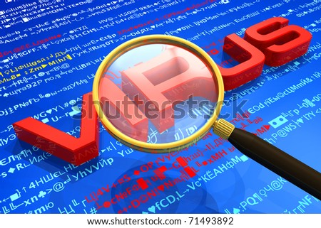 Antivirus protection and computer security concept - stock photo