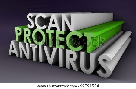 Antivirus to Protect and Scan Your PC System - stock photo