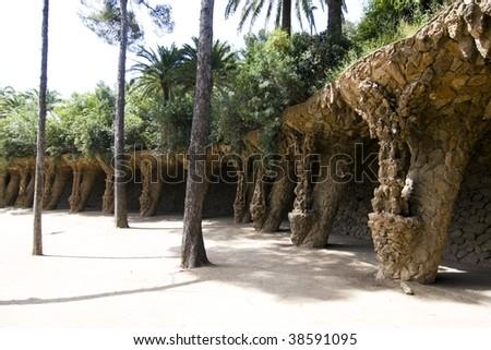 "Antoni Gaudi ""Park Güell"" - stock photo"