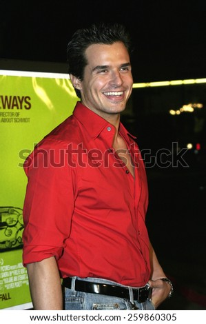 """Antonio Sabato Jr. at the """"Sideways"""" Los Angeles Premiere held at the Academy of Motion Pictures Arts and Sciences in Beverly Hills, California United States on October 12 2004. - stock photo"""