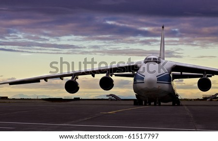Antonow- the bigest cargo aircraft - stock photo